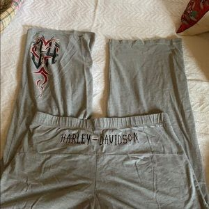 Harley Davidson Ralph Marlin gray pants/pj bottoms